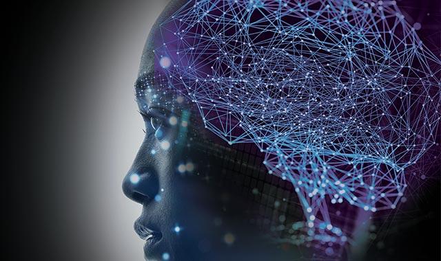 Photo: women with neuro brain map