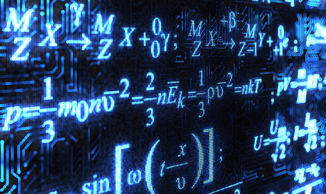 math problems on a board