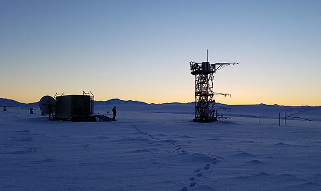 View of one of the NEON program sites in the Arctic