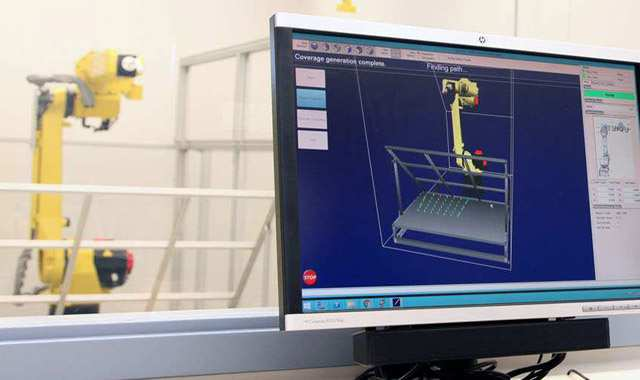 Robotic device being run with PathPlan software