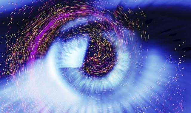 digital version of an eye