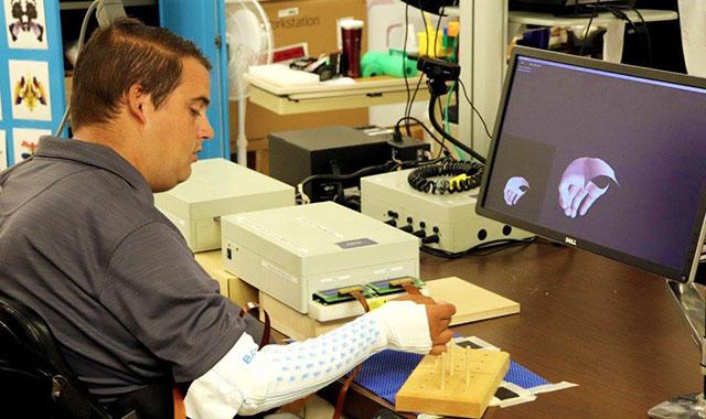 Ian Burkhart using brain-computer-interface