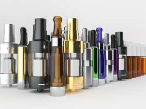various materials used for e-cigarettes