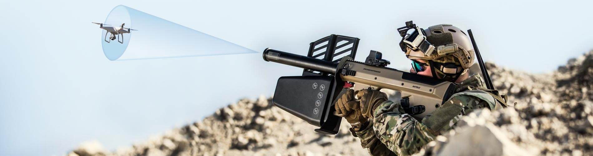 DroneDefender version 2 device in action