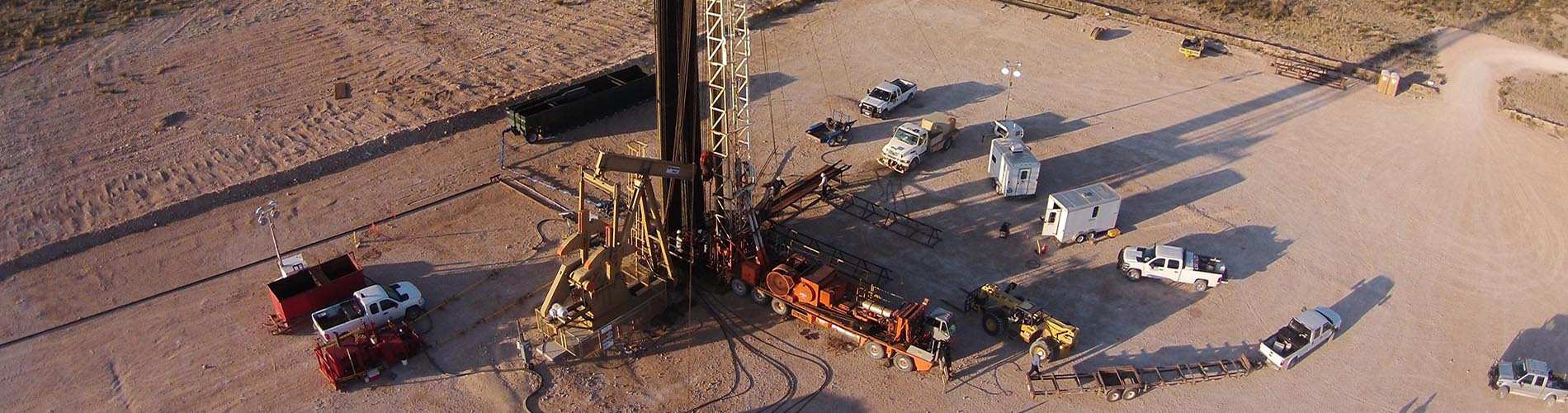 Oil and gas drilling site.