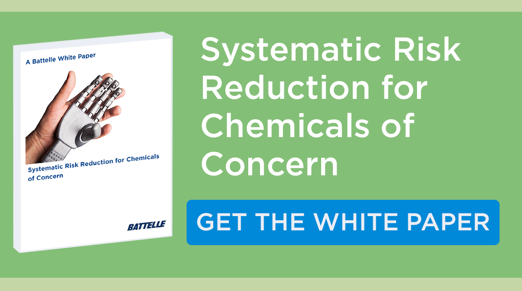 Download the white paper Systematic Risk Reduction for Chemicals of Concern