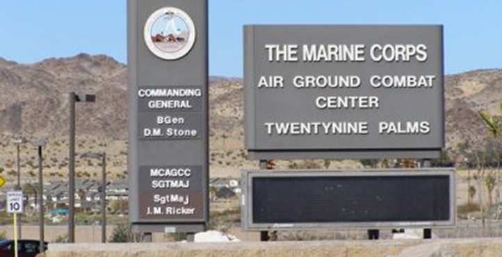 Marine Corps Air Ground Combat Center Sign