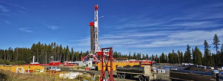 Large drilling site