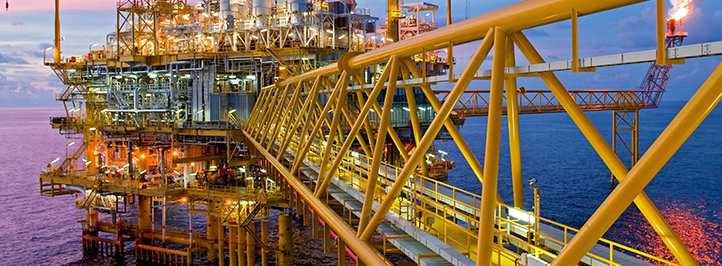 Offshore oil site